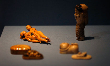 Erotic figurines from the 18th and 19th centuries, photo by Suzanne Plunkett/Reuters